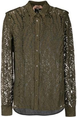 No.21 Sheer Lace Shirt
