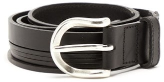 Our Legacy Fringed-strap Leather Belt - Black