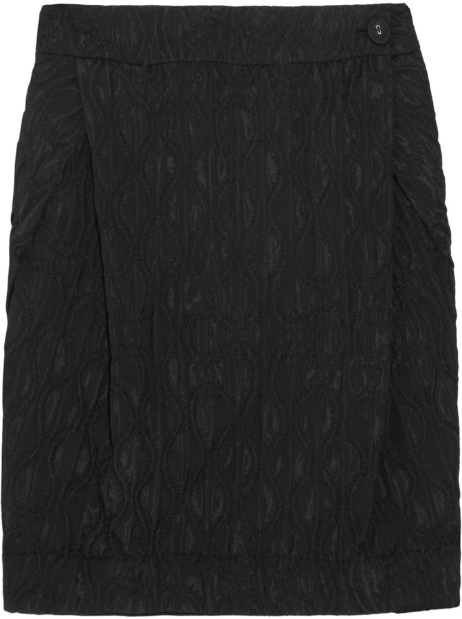 Vivienne Westwood Metropolitan embroidered quilted-effect skirt