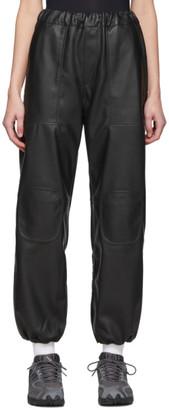 Gr Uniforma GR-Uniforma Off-White Faux-Leather Track Trousers