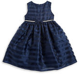 Princess Faith Girls 2-6x Girls Striped Mesh Dress