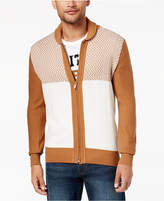 Sean John Men's Zig-Zag Colorblocked Full-Zip Cardigan, Created for Macy's