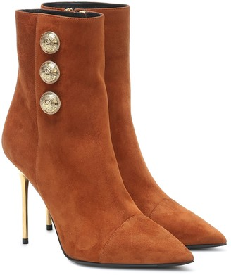 Balmain Roni suede ankle boots