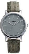 Timex Braid Pattern Leather Strap Watch, 38mm