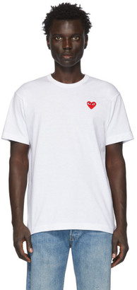 Comme des Garcons White Patch Heart T-Shirt