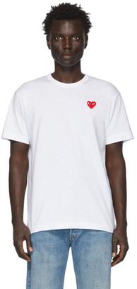 Comme des Garcons White Patch Heart T-Shirt