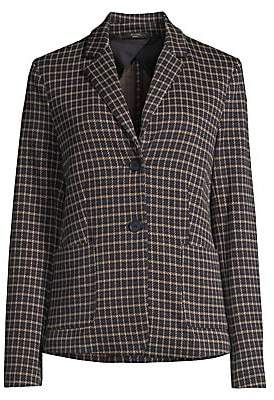 Max Mara Women's Gavino Check Single-Breasted Blazer