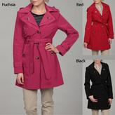 London Fog Women's Belted Hooded Coat