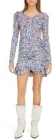 Isabel Marant Floral Print Long Sleeve Ruffled Dress