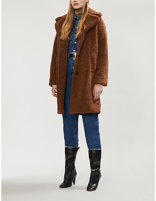 Claudie Pierlot Fedora faux-fur coat