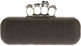 Alexander McQueen 'Knucklebox' studded clutch - women - Leather - One Size