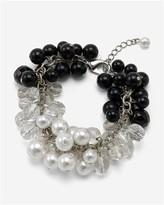 Jet/Glass-Pearl/Crystal Bracelet