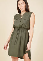 ModCloth Woods to the Wise Shirt Dress in Olive in XL