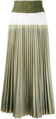 Mr & Mrs Italy High-Waisted Pleated Skirt