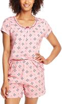 Hanes Pink Argyle Pajama Shorts Set