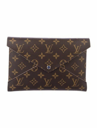 Louis Vuitton 2018 Monogram Pochette Kirigami Set Brown