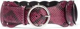 Emilio Pucci Cintura snake-effect leather belt