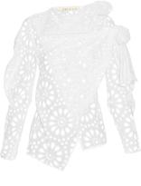 Awake Rustic asymmetric broderie-anglaise cotton blouse