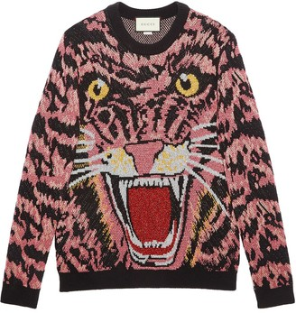 Gucci Lurex wool tiger sweater