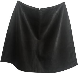 Harrods Brown Leather Skirt for Women