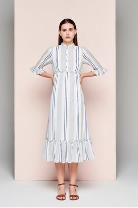 Dream Stripe Frill Dress - Large