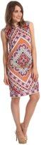Juicy Couture Diamond Floral Jersey Dress (Diamond Floral Tangerine) - Apparel