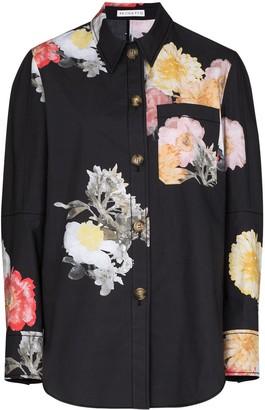REJINA PYO Kinsey floral button-down shirt