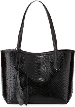 Nancy Gonzalez Erica Small New Python Leaf Tote Bag
