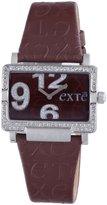 Exte Women's EX.4031L/15Z Brown Calfskin Band watch.