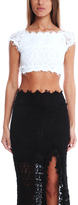 Nightcap Clothing Florence Lace Top White