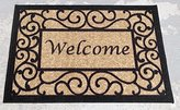 "Ottomanson Ottohome Collection Rectangular Welcome Doormat (Machine-Washable/Non-Slip), Beige, 20"" x 30"""