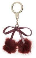 Kate Spade Women's Faux Fur Bow Pom Bag Charm - Black