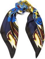 Mary Katrantzou Printed silk-twill scarf