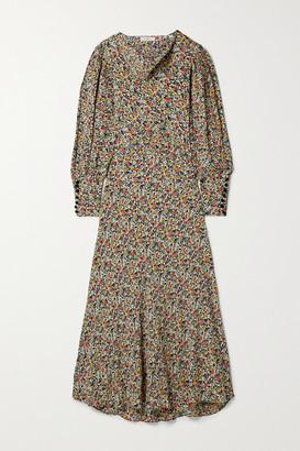 DÔEN Nanette Belted Floral-print Crepe Maxi Dress - Brown