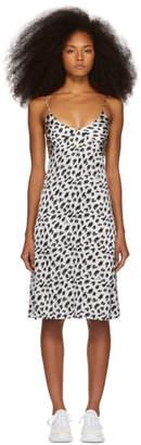 Ashley Williams SSENSE Exclusive White and Black Silk Slip Dress