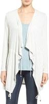 Matty M Women's Drawstring Drape Front Cardigan