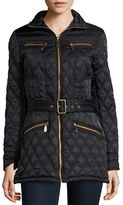 Vince Camuto Faux Suede Trimmed Quilted Jacket