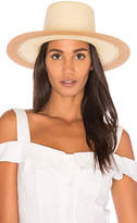 Janessa Leone Quatre Hat in Tan. - size L (also in M,S)