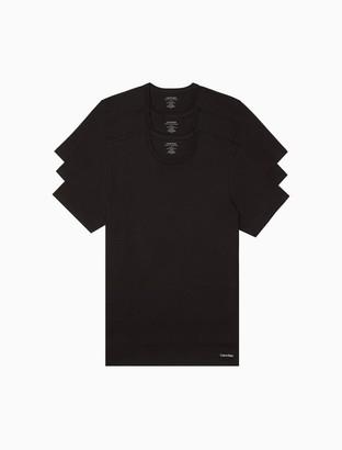 Calvin Klein Cotton Classic Slim Fit 3-Pack Crewneck T-Shirt