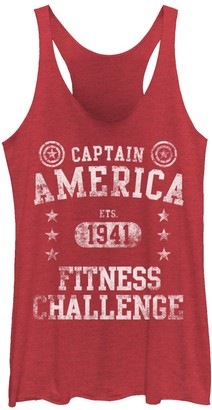 Marvel Juniors' Captain America Fitness Challenge Est. 1941 Graphic Tank