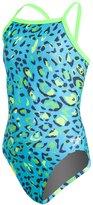 Speedo Flipturns Speedah Cheetah Propel Back Youth Swimsuit 8133075