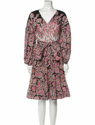 Liberty of London Designs ABI Midi Length Dress Pink