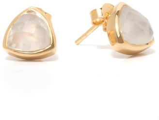 Coco Mango Jewellery Luxe 18K Gold Moonstone Luna Stud Earrings