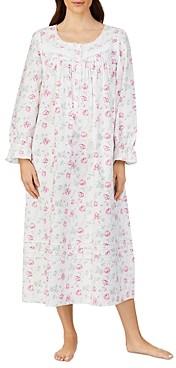 Eileen West Floral Print Flannel Nightgown