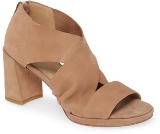 Eileen Fisher Marla Leather Block Heel Sandal