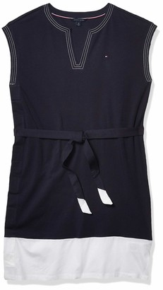 Tommy Hilfiger Women's Adaptive Stretch Cotton Sleeveless Dress with Velcro at Side
