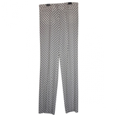 Miu Miu Ecru Viscose Trousers
