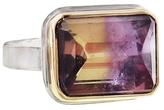 Jamie Joseph Rectangular Ametrine Ring