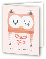 Minted Baby Owl Bonnet Baby Shower Thank You Cards