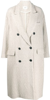 Etoile Isabel Marant Herringbone Double-Breasted Coat